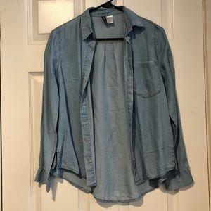 H&M lightweight chambray blouse